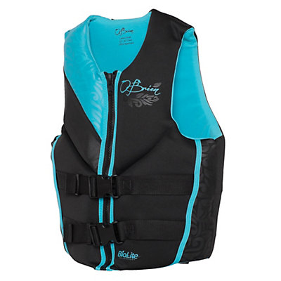 O'Brien Focus Neoprene Womens Life Vest 2017, Aqua, viewer