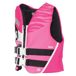 O'Brien Youth Junior Life Vest 2017, Black-Pink, 256