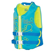 O'Brien Aqua Child Toddler Life Vest 2017, Aqua-Green, medium
