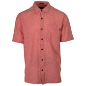 O'Neill Inlet Mens Shirt, Dark Coral, medium