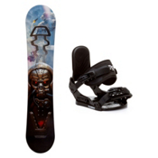 Black Fire Techno Plus Stealth Kids Snowboard and Binding Package, , medium