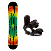 Airwalk Rasta Stealth Kids Snowboard and Binding Package, , medium