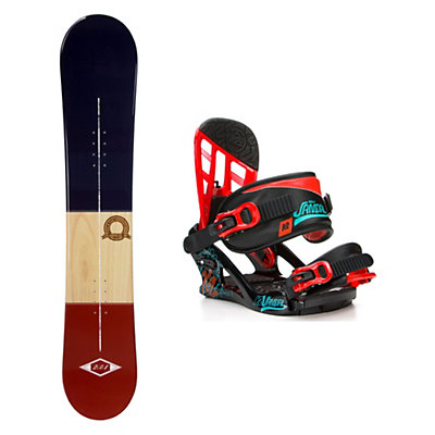 2B1 Classical Blue Stealth Kids Snowboard and Binding Package, , viewer
