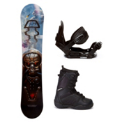 Black Fire Techno Plus C20 Kids Complete Snowboard Package, , medium