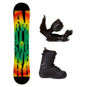Airwalk Rasta C20 Kids Complete Snowboard Package, , medium
