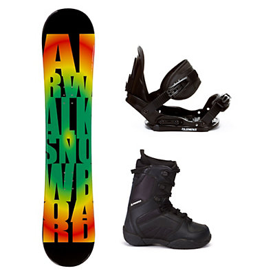 Airwalk Rasta C20 Kids Complete Snowboard Package, , viewer