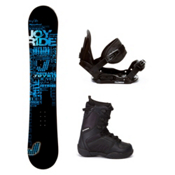 Joyride Text Blue C20 Kids Complete Snowboard Package, , medium