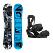 Burton Clash Custom Snowboard and Binding Package 2016, 145cm, medium