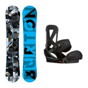 Burton Clash Custom Snowboard and Binding Package 2016, 158cm, medium