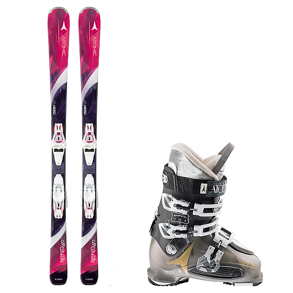 Atomic Affinity Pure, and Atomic Waymaker 70 Womens Ski Package, , 600