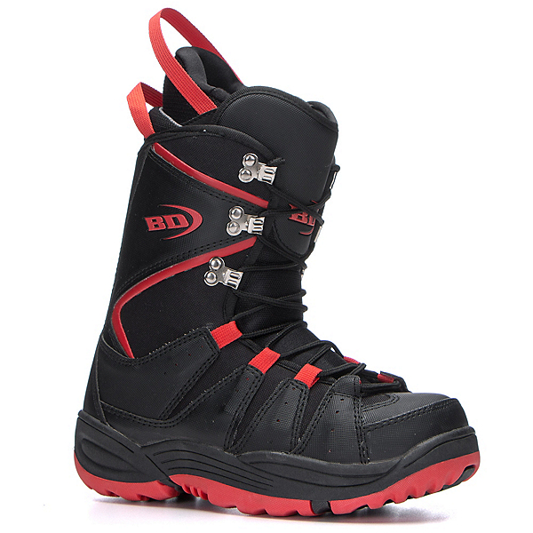 Black Dragon Basic Snowboard Boots, Black-Red, 600