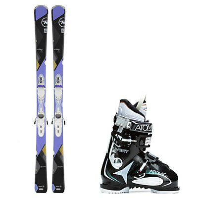 Rossignol Temptation 75, and Atomic Live Fit 60 Womens Ski Package, , viewer