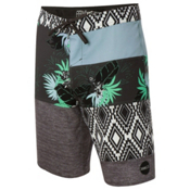 O'Neill Hyperfreak Eclectic Boardshorts, Cement, medium