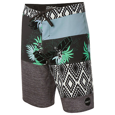 O'Neill Hyperfreak Eclectic Boardshorts, Cement, viewer