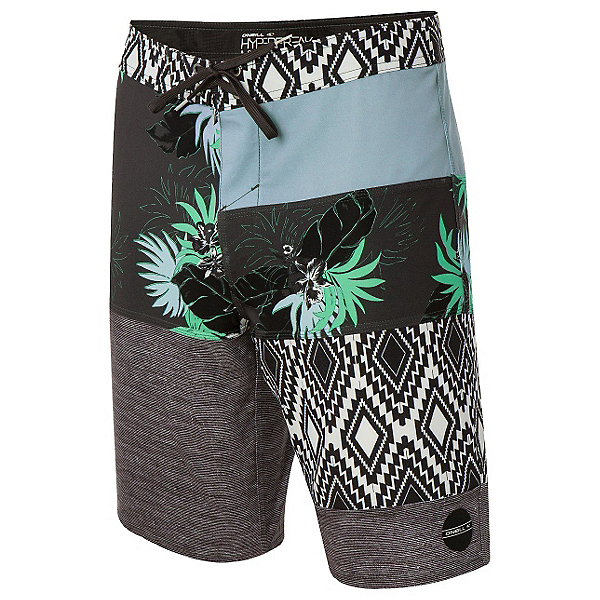 O'Neill Hyperfreak Eclectic Mens Board Shorts, Cement, 600