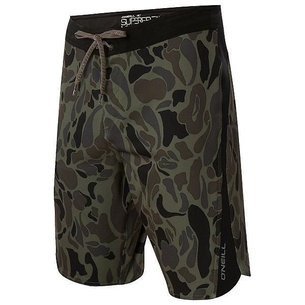 O'Neill Superfreak Quad Mens Board Shorts, Dark Army, 600