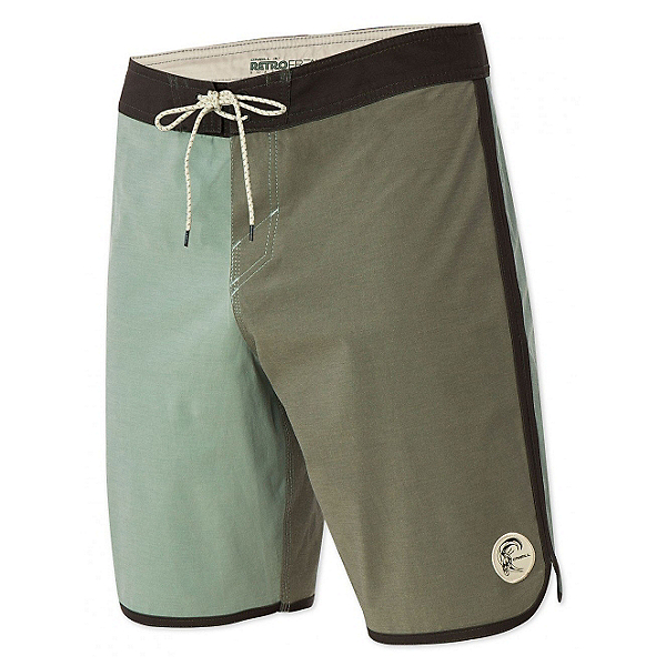 O'Neill Retrofreak Scallop Mens Board Shorts, Army Green, 600