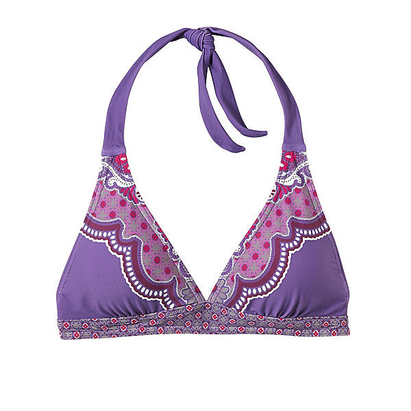 Prana Lahari Halter Bathing Suit Top, Dusted Peri Jasmine, 600