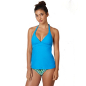 Prana Lahari Tankini Bathing Suit Top, Vivid Blue, medium