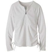 Prana Arwyn Sun Top Womens Rash Guard, White, medium