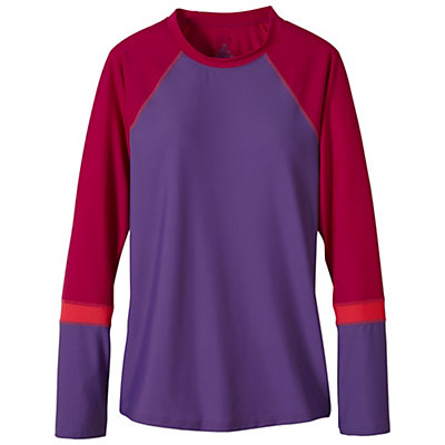 Prana Lorelei Sun Top Womens Rash Guard, Black Feather, viewer