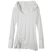 Prana Vinyasa Womens Hoodie, White, medium