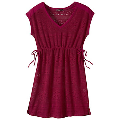 Prana Elliot Dress Bathing Suit Cover Up, Rich Fuchsia, viewer