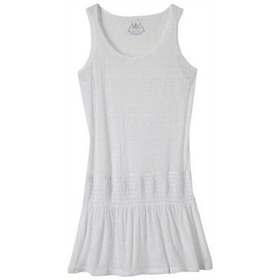 Prana Zadie Dress Bathing Suit Cover Up, White, viewer