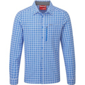 Craghoppers NosiLife Albert Long Sleeved Mens Shirt, Sport Blue Check, medium