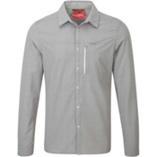 Craghoppers NosiLife Albert Long Sleeved Mens Shirt, Light Grey Geo Print, medium