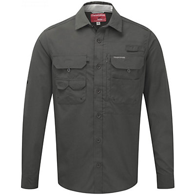 Craghoppers NosiLife Long Sleeved Angler Shirt, Dark Khaki, viewer