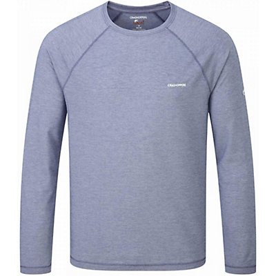 Craghoppers NosiLife Goddard Long Sleeved Shirt, Light Dusk Blue Marl, viewer