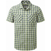 Craghoppers Corin Short Sleeved Mens Shirt, Dark Khaki Check, medium