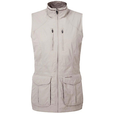 Craghoppers NAT GEO NosiLife Jiminez Gilet Womens Vest, Mushroom, viewer