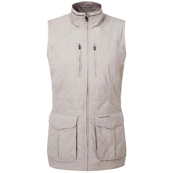 Craghoppers NAT GEO NosiLife Jiminez Gilet Womens Vest, Mushroom, 600