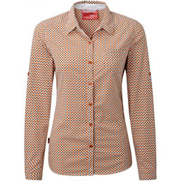 Craghoppers NosiLife Olive Long Sleeved Womens Shirt, Desert Orange Combo, 256