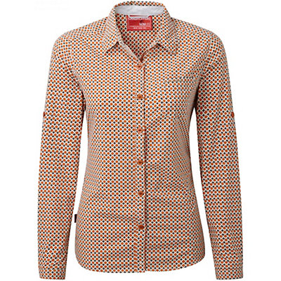 Craghoppers NosiLife Olive Long Sleeved Womens Shirt, Desert Orange Combo, viewer