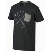 Oakley Stoked T-Shirt, Jet Black Heather, medium