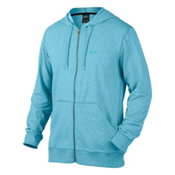 Oakley Pennycross Full Zip Mens Hoodie, Pacific Blue Light Heather, medium