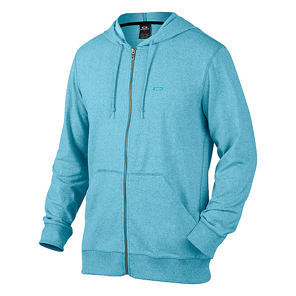 Oakley Pennycross Full Zip Hoodie, Pacific Blue Light Heather, 600