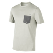 Oakley Voyage Cool Out SS Mens Rash Guard, Light Grey, medium