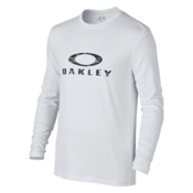Oakley Long Sleeve Surf Tee Mens Rash Guard, White, medium