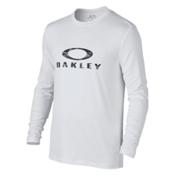 Oakley Long Sleeve Surf Tee Mens Rash Guard, White, medium