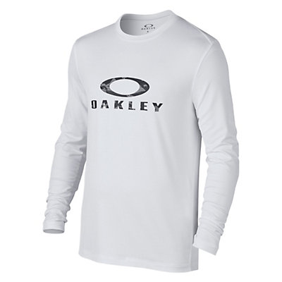 Oakley Long Sleeve Surf Tee Mens Rash Guard, White, viewer