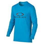 Oakley Long Sleeve Surf Tee Mens Rash Guard, Pacific Blue, medium