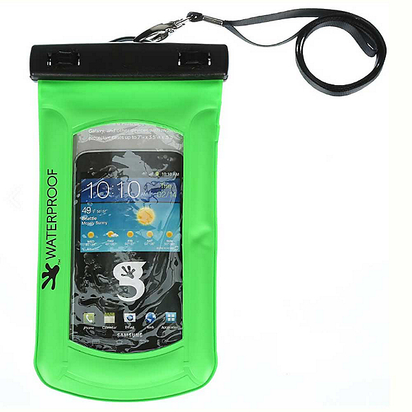 Geckobrands Waterproof Submerge Case Dry Bag 2017, Bright Green, 600