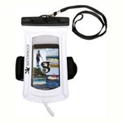 Geckobrands Waterproof Submerge Audio Case 2017, White, medium