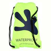 Geckobrands Waterproof Drawstring Backpack 2017, Bright Green-Navy, medium