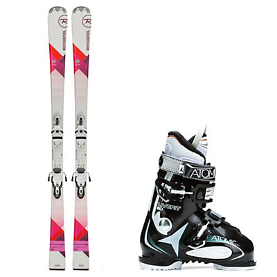 Rossignol Unique, and Atomic Live Fit 60 Womens Ski Package, , viewer