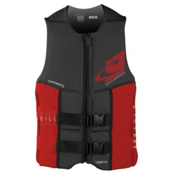 O'Neill Assault LS USCG Adult Life Vest 2017, Black-Red, medium
